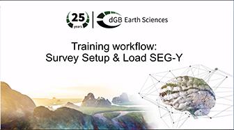 Training workflow: Survey Setup & Load SEG-Y