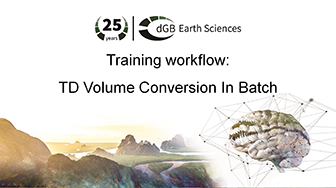 Training workflow: Time-Depth - Volume Conversion In Batch